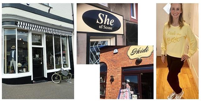Menswear and Womenswear shops