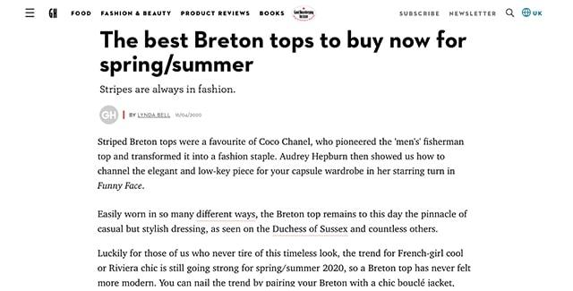 Best breton stripes